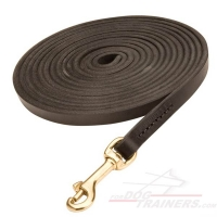 Long Tracking Leather Dog Leash