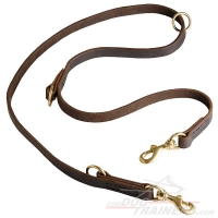 Multipurpose Leather Dog Leash for over 7 Different Activities