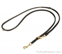 Multimode Leather Round Leash for Excellent Control of Your Dog