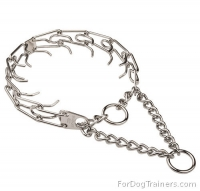 HS Dog Pinch Collar Chrome Plated - 50004 02  (3.25mm (1/8 inch)) (Made in Germany)