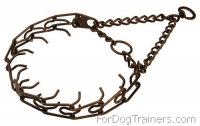 Durable Pinch Dog Collar with 3.0 mm (1/9 inch) prong diameter