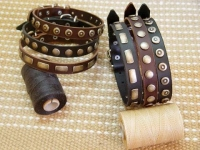 Amazing Set of 6 Gorgeous Wide Leather Dog Collars - Fashion Exclusive Design - Special25setof6