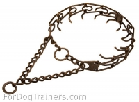 Dog Prong Collar Herm Sprenger - Antique Copper Plated Steel 3.99mm (1/6 inch) prongs