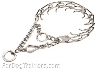 HS Dog Pinch Collar with Swivel and Quick Release Snap Hook - (1/8 inch) (3.25mm)