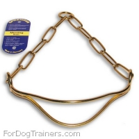 Herm Sprenger Show Dog Collar Made of Brass ( Made in Germany )