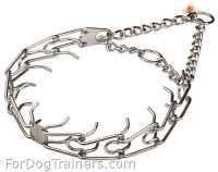 Stainless Steel Dog Pinch Collar - Herm Sprenger Prong Collar - 1/6 inch (3.99mm) link diameter