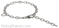 Exceptional Quality Fur Saver 1/9 inch (3 mm) - Herm Sprenger Chrome-plated Collar with Snap Hook