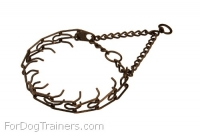 Antique Copper Plated Steel Prong Dog Collar - 3.99mm (1/6 inch)