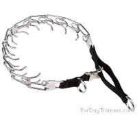 Dog Prong Collar with Nylon Loop and Quick Release Buckle  (3.25mm) (1/8 inch)