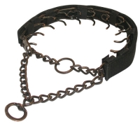Steel-Antique Copper Plated Prong Collar with Nylon Cover - 3.0 mm (1/9 inch) prong diameter 10% DISCOUNT