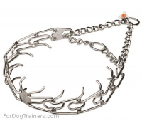 Stainless Steel Dog Prong Collar-(3.25mm) (1/8 inch) link diameter