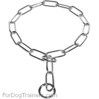 HS Fur Saver Collar of Smooth Chrome-plated Links - Recommended by VDH member of F.C.I.  ( Made in Germany )