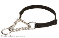 All Weather Nylon Martingale Dog Collar - Non-adjustable