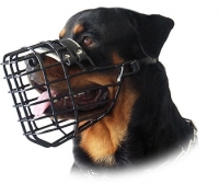 Rottweiler Wire Dog MUZZLE for winter with rubber cover