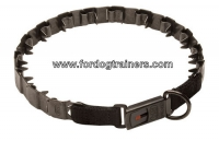 NEW Black Neck Tech Stainless Steel Pinch Dog Collar with Reliable Click Lock System