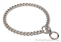 Chome-plated Choke Dog Collar for Behavior Correction -  1/6 inch (4.0 mm)