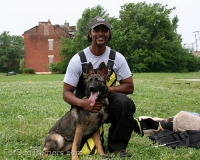 Ouniel training his Saskia - German shepherd in our  All Weather dog training Apron  - PBS7N