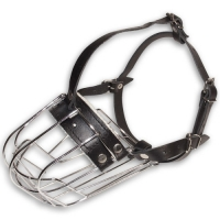 Wire Cage Free Breathe Pet Muzzle - Mouth Guard for Dogs Walking and Training