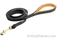 High Grade Fashion Leather Dog Leash with Padded Handle