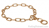Curogan Fur Saver Choke Collar - 1/9 inch (3 mm)  Perfect for Training and Walking Choke Chain