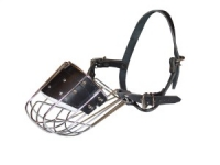 Wire Basket Easy Breathing Mouth Muzzle for Dogs Walking and Training