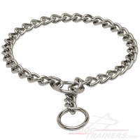Chrome Plated Choke Dog Collar for Training and Behavior Correction 1/8 inch (3,5 mm)