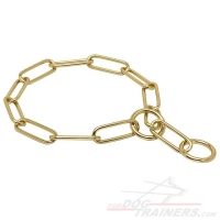 """Chain Trainer"" Fur Saver Dog Collar Made of Brass - 1/6 inch (4 mm)"