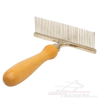 """Personal Stylist"" Metal Brush Equipped with Wooden Handle"