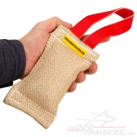 Jute Puppy Bite Tug with One Handle - 2 1/3 inch on 8 inch (6x20 cm)