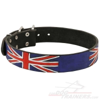 'Union Jack' Leather Dog Collar - a Centuries-Old Tradition