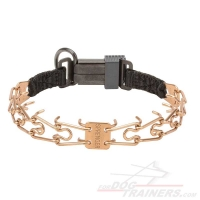 'Easy Taming' HS Dog Pinch Collar Designed of Curogan Alloy with Prong Diameter 1/11 inch (2.25 mm)