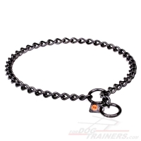 'Iron Trainer' Canine Fur Saver Made of Black Stainless Steel - 1/8 inch (3 mm) wire diameter