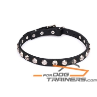 'Pyramid Harmony' Studded Leather Canine Collar