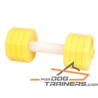 'Freedom and Adventures' Wooden Dog Training Dumbbell with Plastic Weight Plates 2000 g