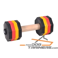 'Easy Lifting' 'Resistant Wooden Dumbbell with Plastic Bells for Schutzhund Training 2000 g