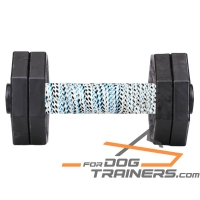 'Schutzhund Trainer'  Hardwood Dog Dumbbell with Removable Plates 1000 gram (1kg) - SchH 2