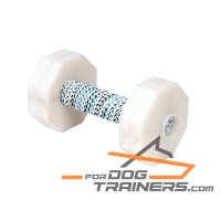 'Indispensable Trainer' Wooden Dog Dumbbell with French Linen Coil 1000g