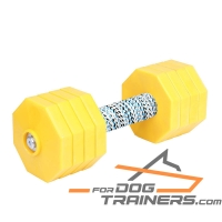 'Strength and Power' Wooden Dog Dumbbell for Retrieve Training 2000 g