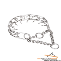 """Firm Action"" Stainless Steel Pinch Collar for Medium Sized Dogs - 1/9 inch (3 mm) link diameter"
