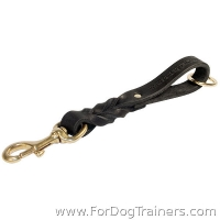 Short Leather Dog Leash Pull Tab