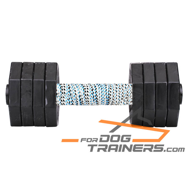 Wooden Dumbbell with Removable Plastic Weight Plates