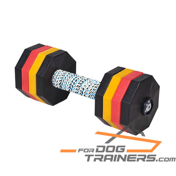 Dog Training Dumbbell with French Linen Cover