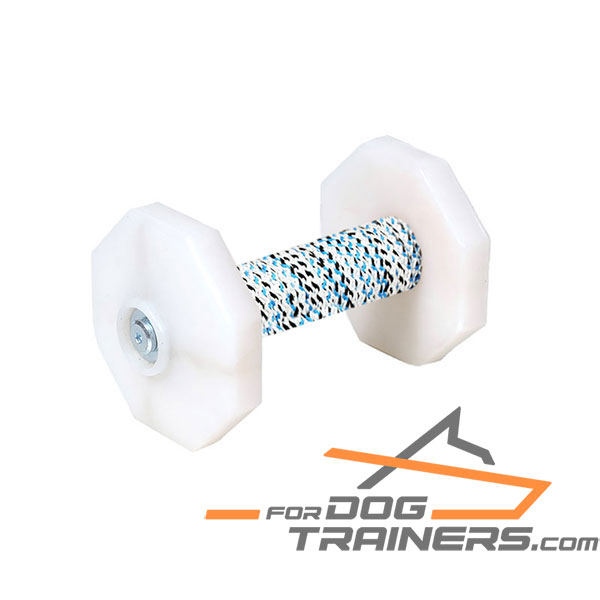 Dog Training Dumbbell with removable Plastic Plates