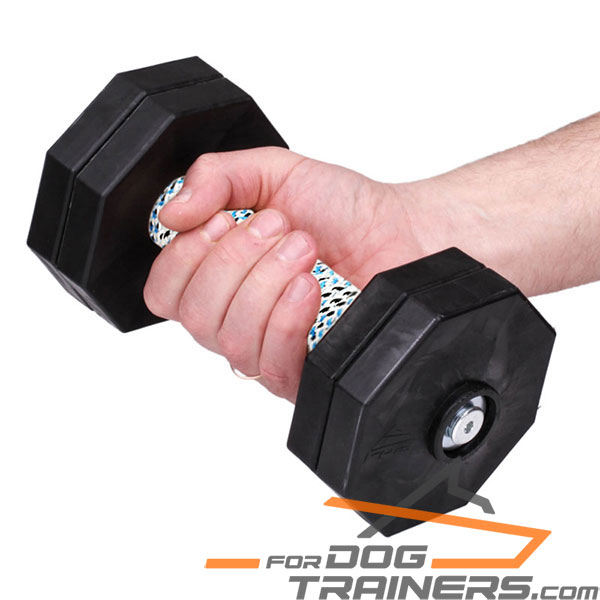 Wooden Dog Dumbbell with Removable Plastic Plates