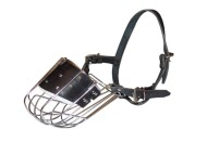 Easy Breathing Wire Cage Muzzle for Large Dogs with Padded Nose Part